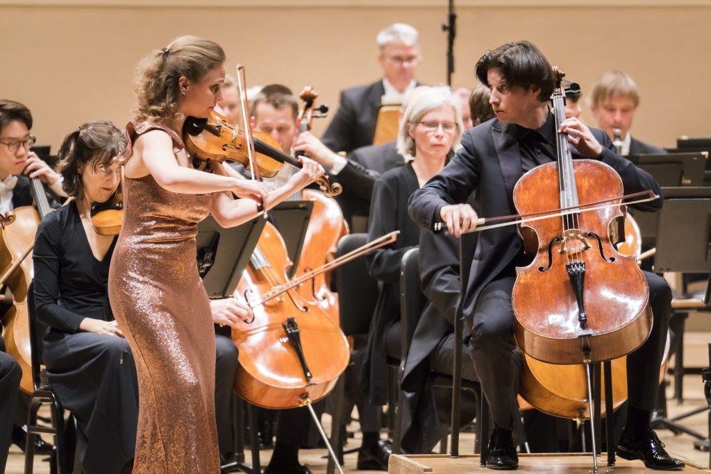 Οι σολίστ Julia Fischer και Daniel Müller-Schott στο Carnegie Hall, 3/28/18. (Φωτο: Chris Lee).