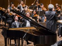 Bertrand Chamayou making his New York Philharmonic debut with Semyon Bychkov leading the orchestra at David Geffen Hall, 5/17/18. Photo by Chris Lee