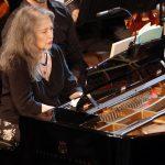 Η Martha Argerich στο Ηρώδειο. Φωτο: Έλλη Πουπουλίδου.