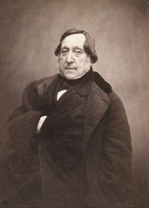 Ο G. Rossini σε φωτογραφία του F. Nadar, περ. 1856.