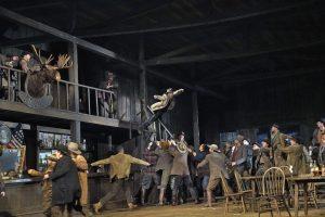 """Σκηνή από την όπερα """"La Fanciull del West"""". Φωτο: Ken Howard/Met Opera."""
