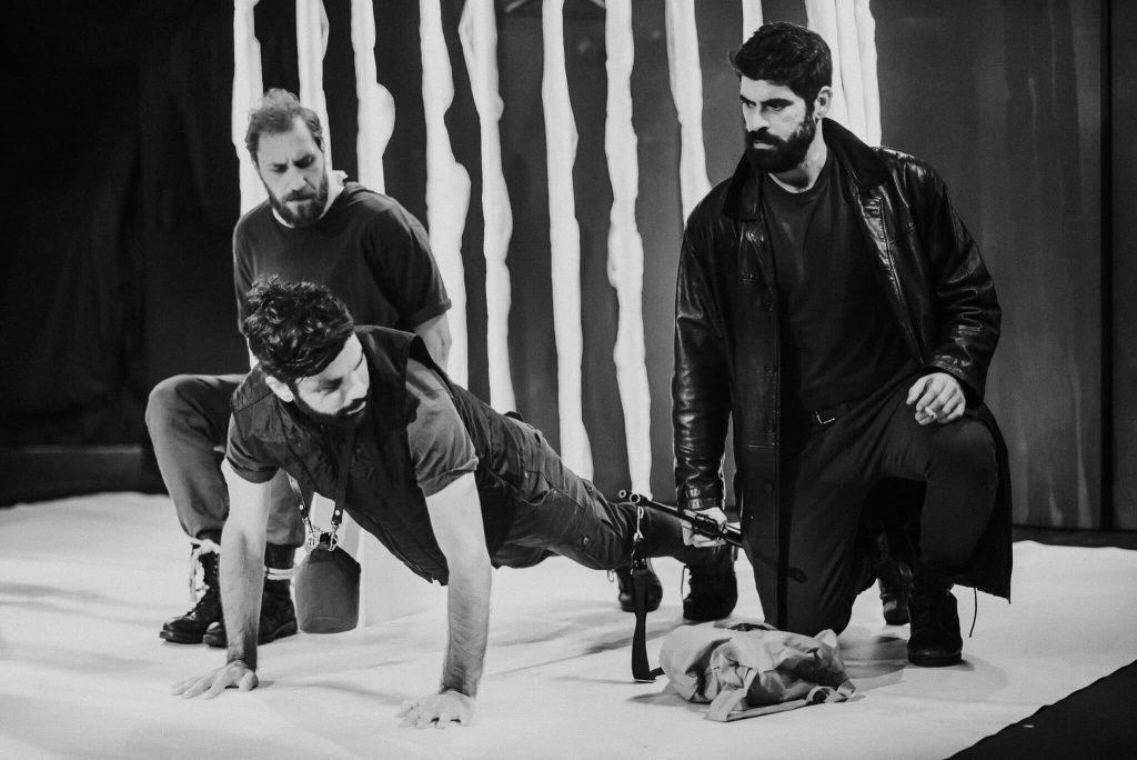 Άγγελος Ανδριόπουλος, Τάκης Παρασκευόπουλος και Μανώλης Κλωνάρης. Φωτο: Ιάσωνας Κοντέος.