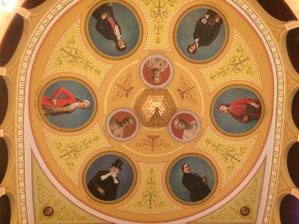 Η οροφή του Θεάτρου Απόλλων. Λεπτομέρεια. Φωτο: ΚΠΚΣ.