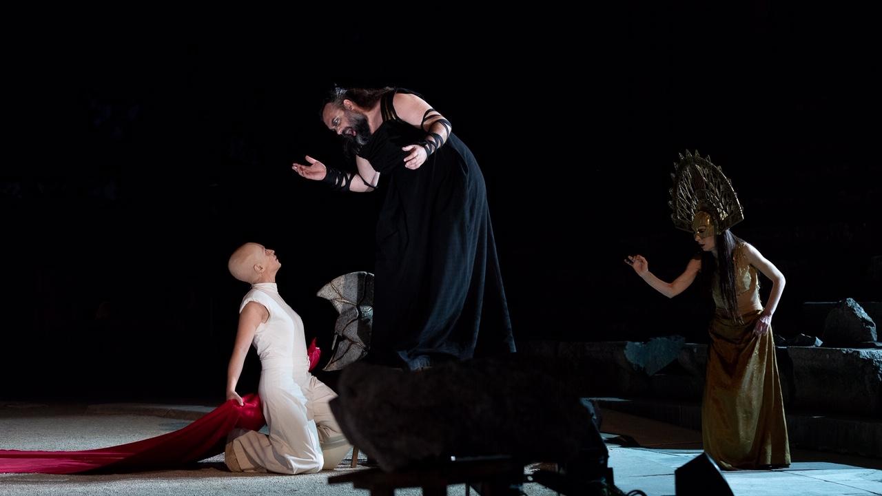 """""""Ορέστεια"""" Αισχύλου. Αγαμέμνων. Φωτο: Εθνικό Θέατρο."""