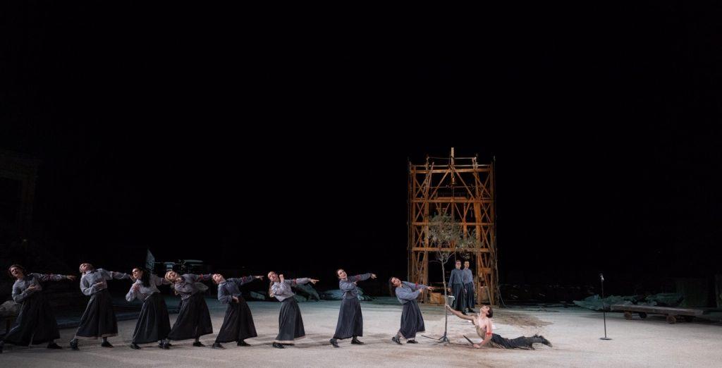 """""""Ορέστεια"""" Αισχύλου. Ευμενίδες. Φωτο: Εθνικό Θέατρο."""