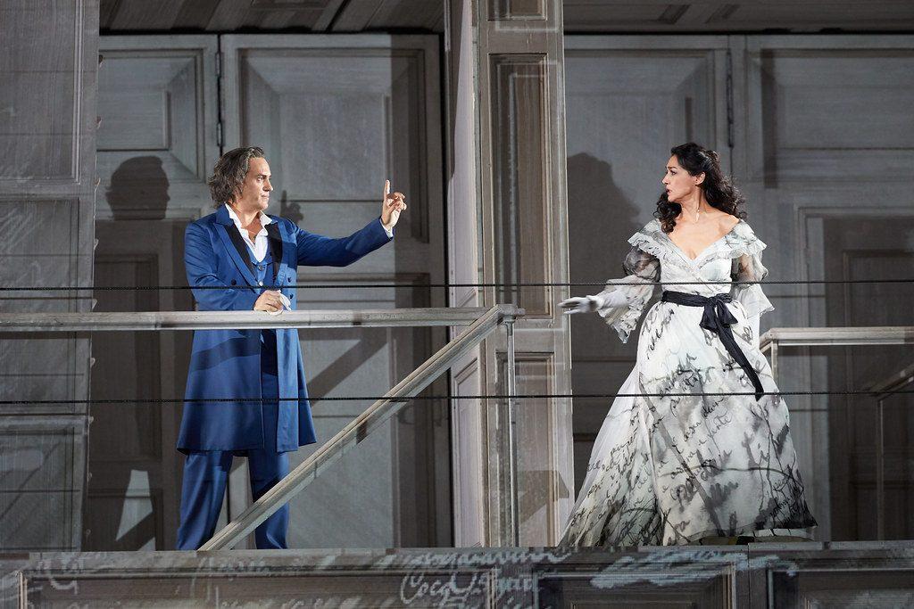 Erwin Schrott (Don Giovanni) και Μυρτώ Παπαθανασίου (Donna Elvira), Φωτο: Royal Opera House.